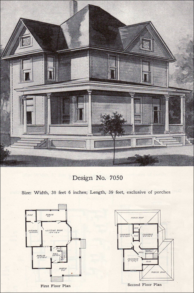 1908 william a radford plan no 7050 free classic queen Classic house plans