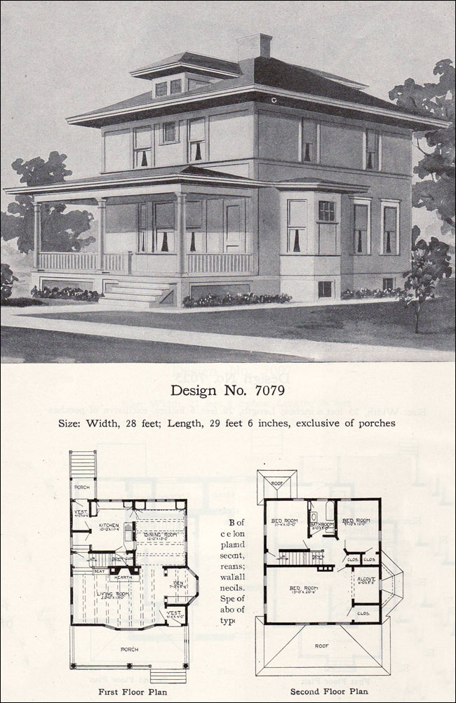1900 american foursquare house plans for American house plans
