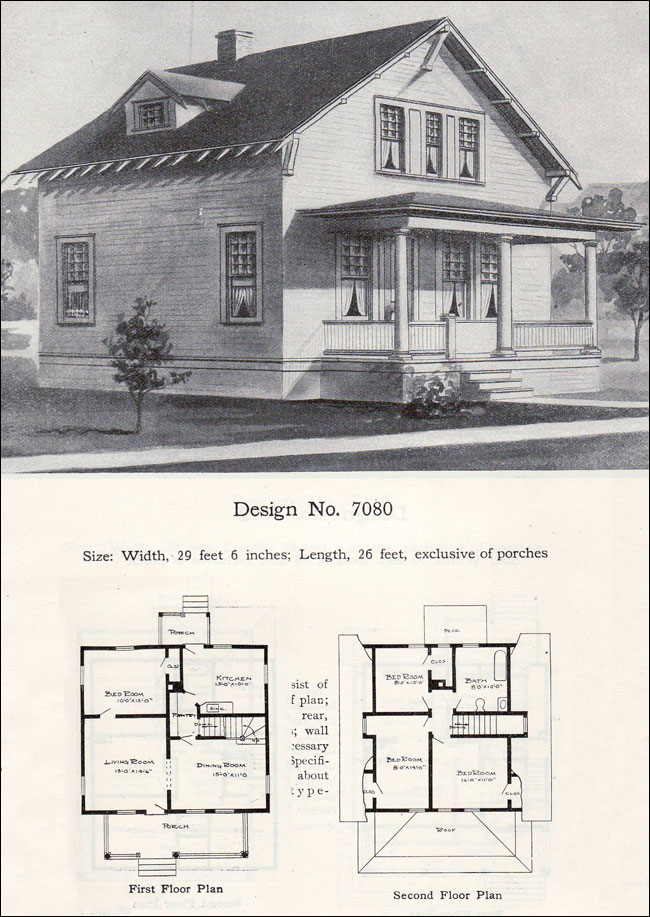 Twp story bungalow cottage plan 1908 radford no 7080 for Bungalow company plans