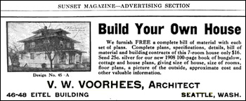1908 Sunset Ad for Voorhees