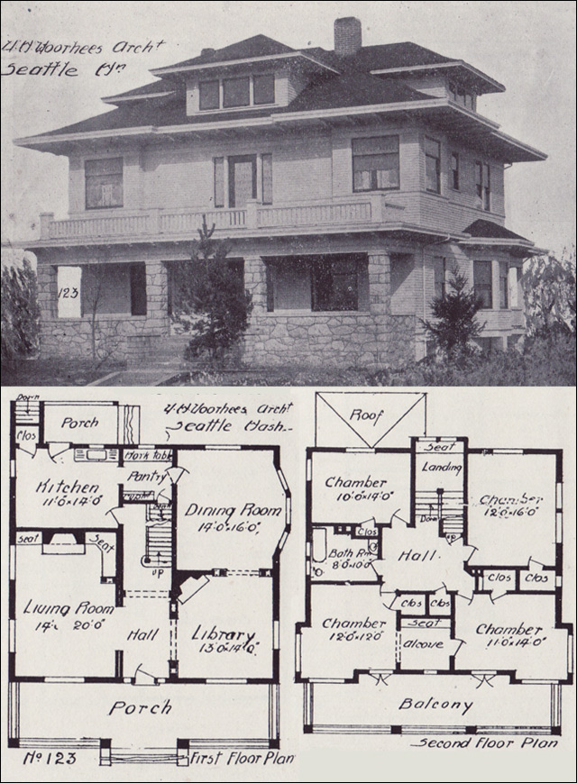 Four Squar House Design Of 1900s: Type Of House: American Foursquare House