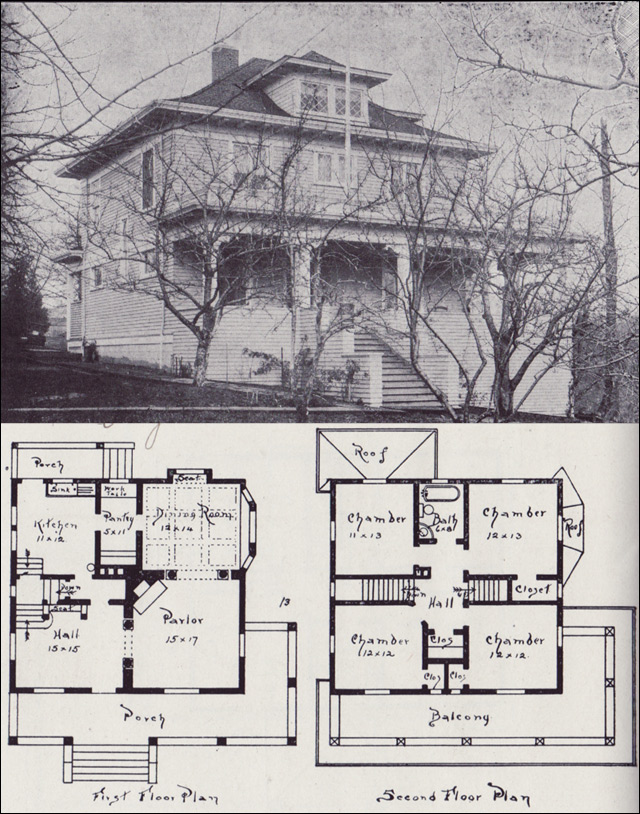 1908 western home builder design no 13 v w voorhees seattle