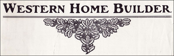 1908 Western Home Builder Title Page