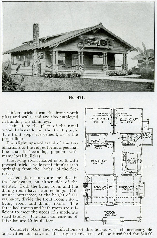 Japanese Style Bungalow 1910 Henry Wilson Bungalow House