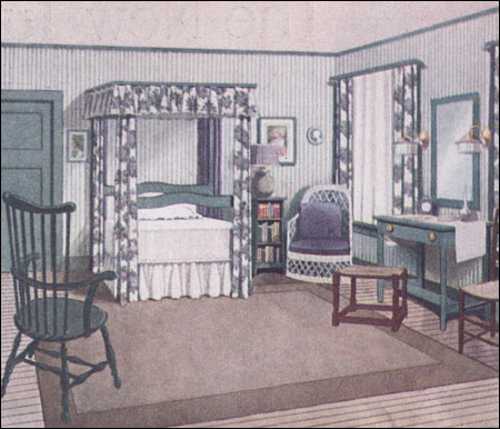 inside the 20th c american bedroom decorating 1900 to the mid century color finishes. Black Bedroom Furniture Sets. Home Design Ideas