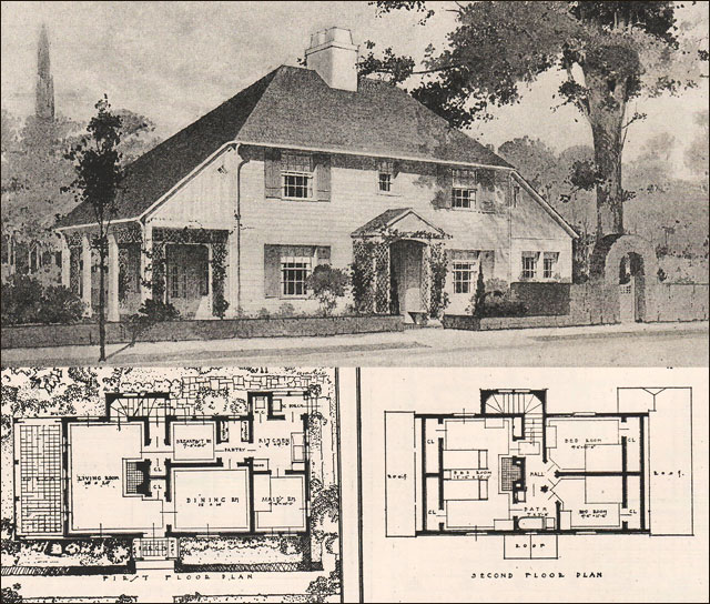 English Arts Crafts Style House Design 11 1916 Ideal