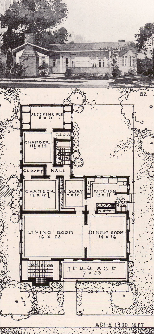 California bungalow style house 1916 ideal homes in House plans ca