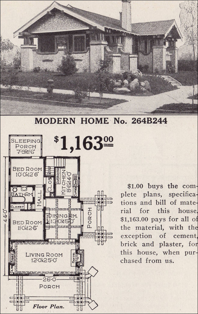 Modern home 264b244 the osborn japanese influenced for Japanese bungalow house design