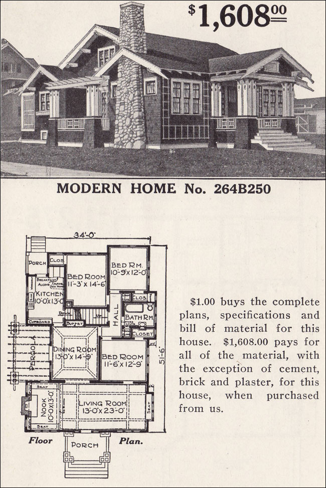 Classic craftsman style bungalow sears ashmore modern Classic bungalow house plans