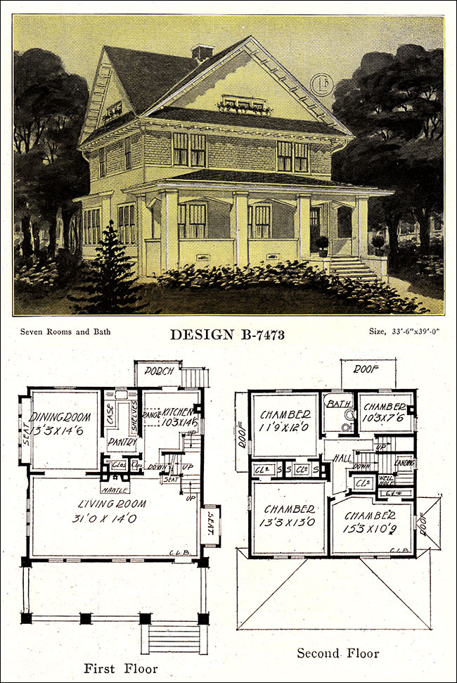 Four square house plans american four square sears for American foursquare plans