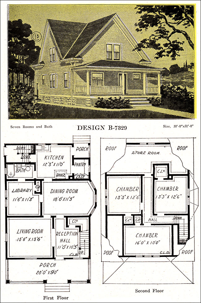 1918 late queen anne free classic house modern american for Classic american homes floor plans