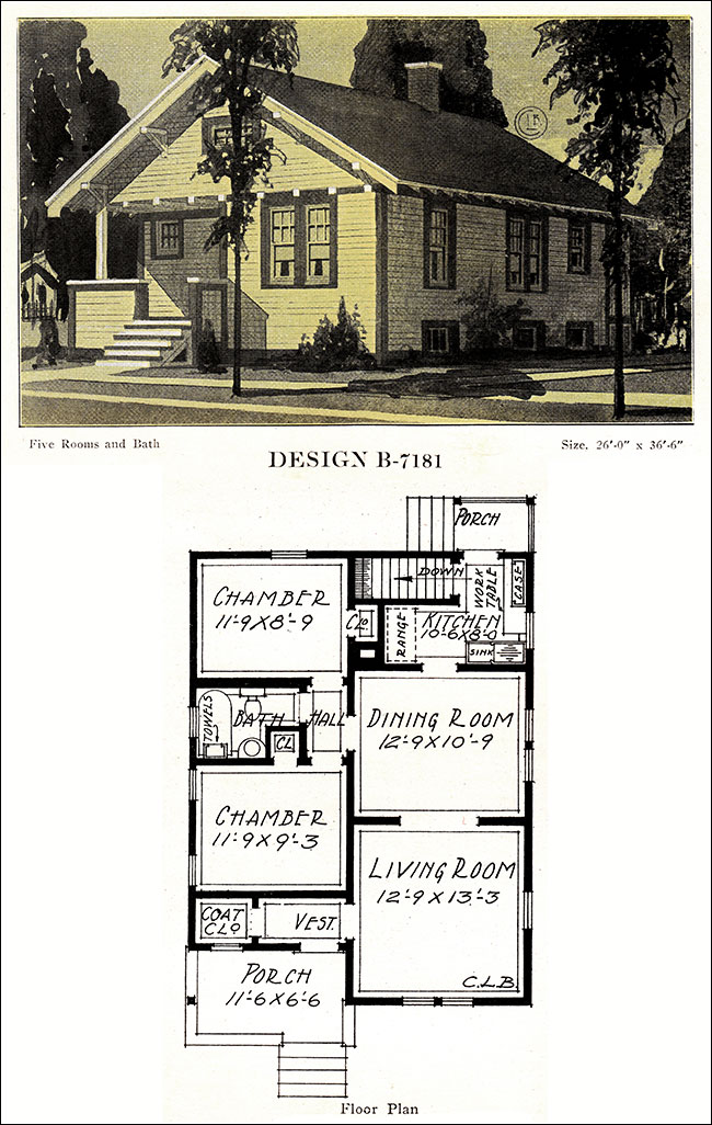 Small Bungalow 1918 Modern American Homes C L Bowes Co