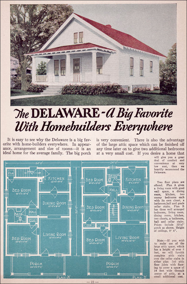 1935 Bungalow Style Liberty Homes By Lewis Mfg The Delaware