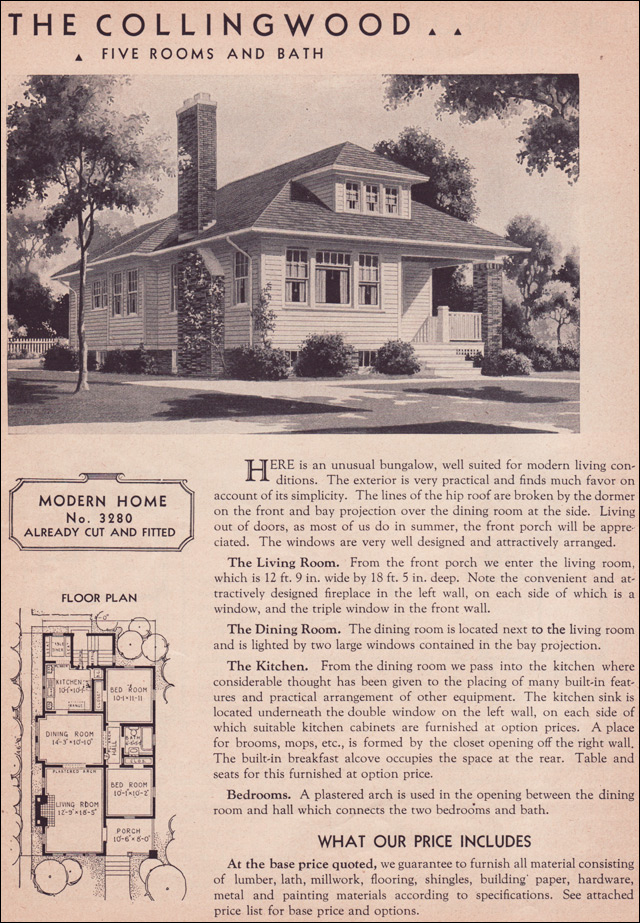 1936 hillsboro sears roebuck kit houses modern bungalow for Catalog houses