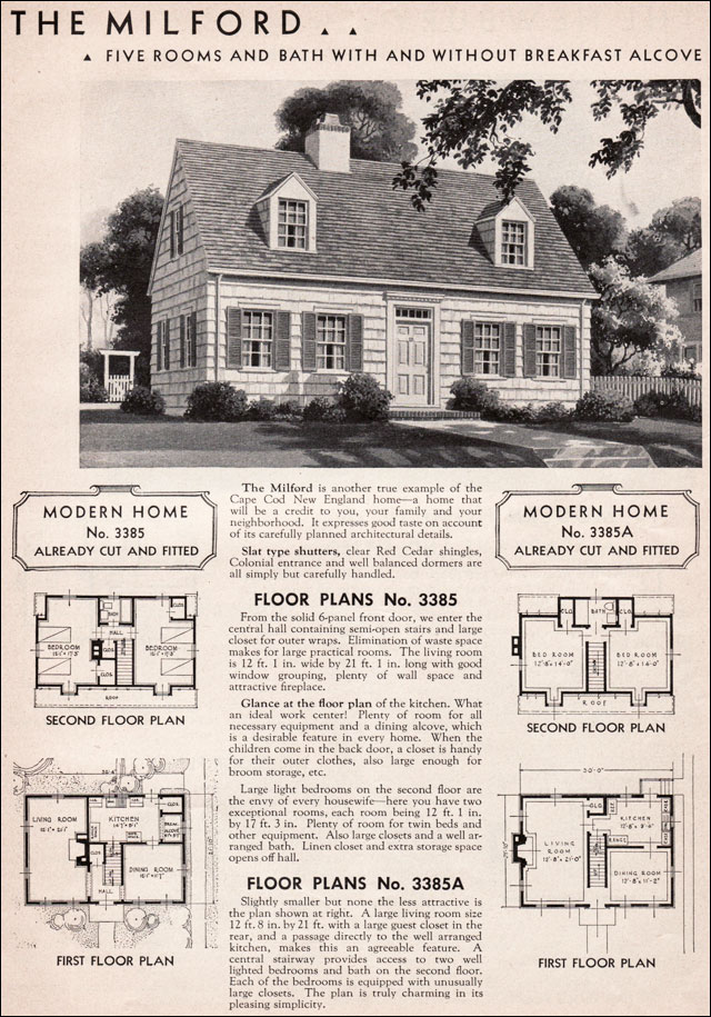 Sears House Designs of the Thirties - Welcome to Dover