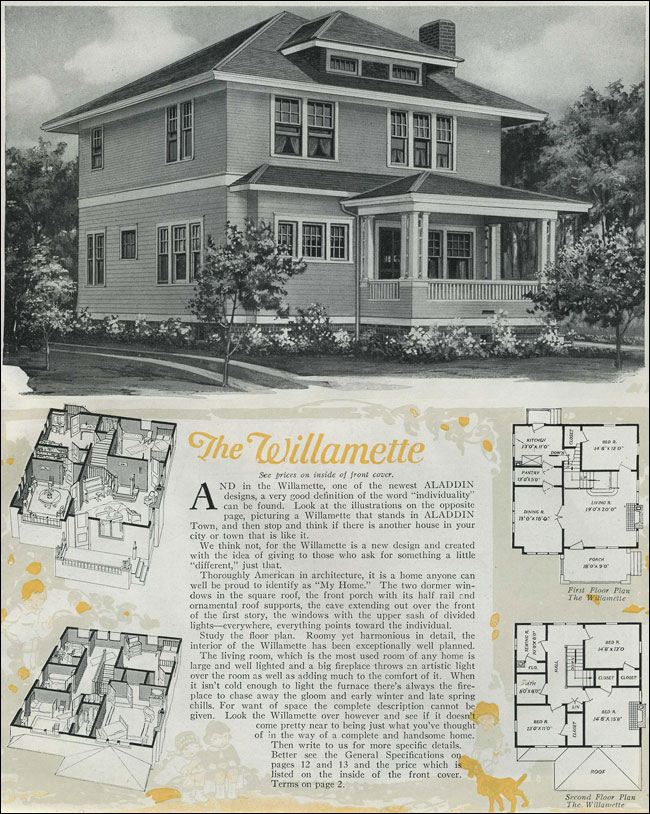 1920 houses classic foursquare the willamette for 1920 house plans