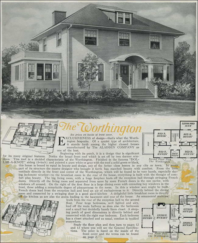 1920 Aladdin Colonial Revival Kit House The Worthington