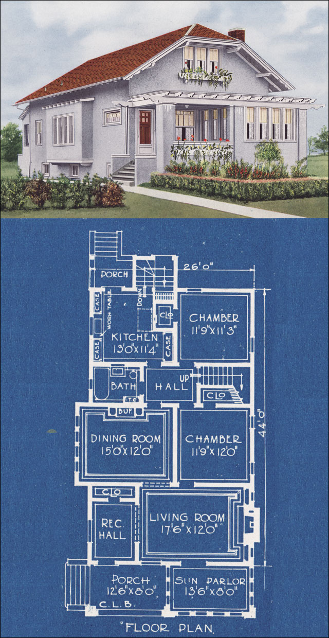 Traditional cottage style house 1920s american homes Classic bungalow house plans