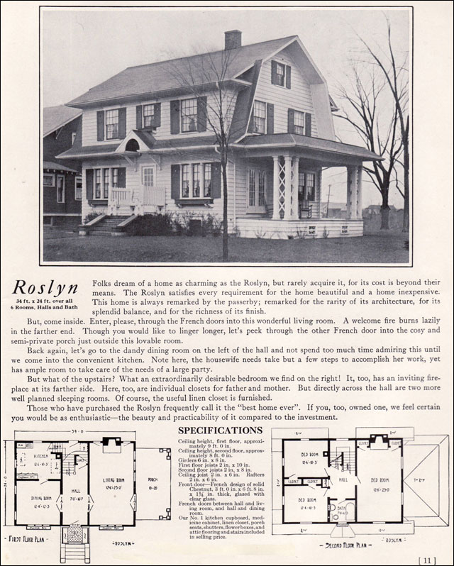 1922 Dutch Colonial Revival The Roslyn 1920s Kit