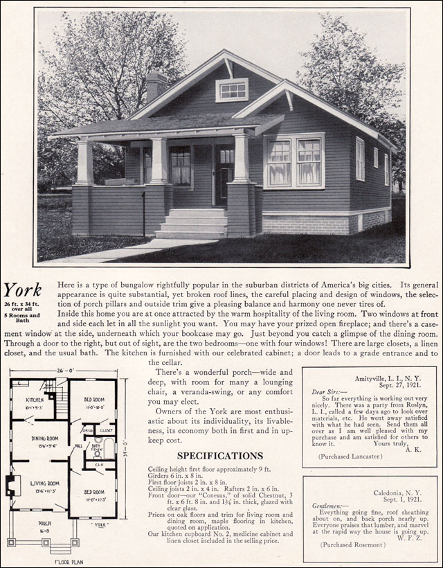 1920s modern bungalow 1922 york by bennett homes kit for 1920 craftsman bungalow floor plans
