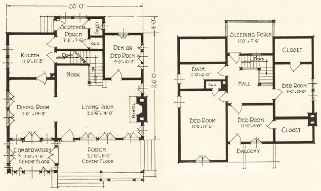 1922 geneva lewis manufacturing swiss chalet bungalow for Swiss house plans