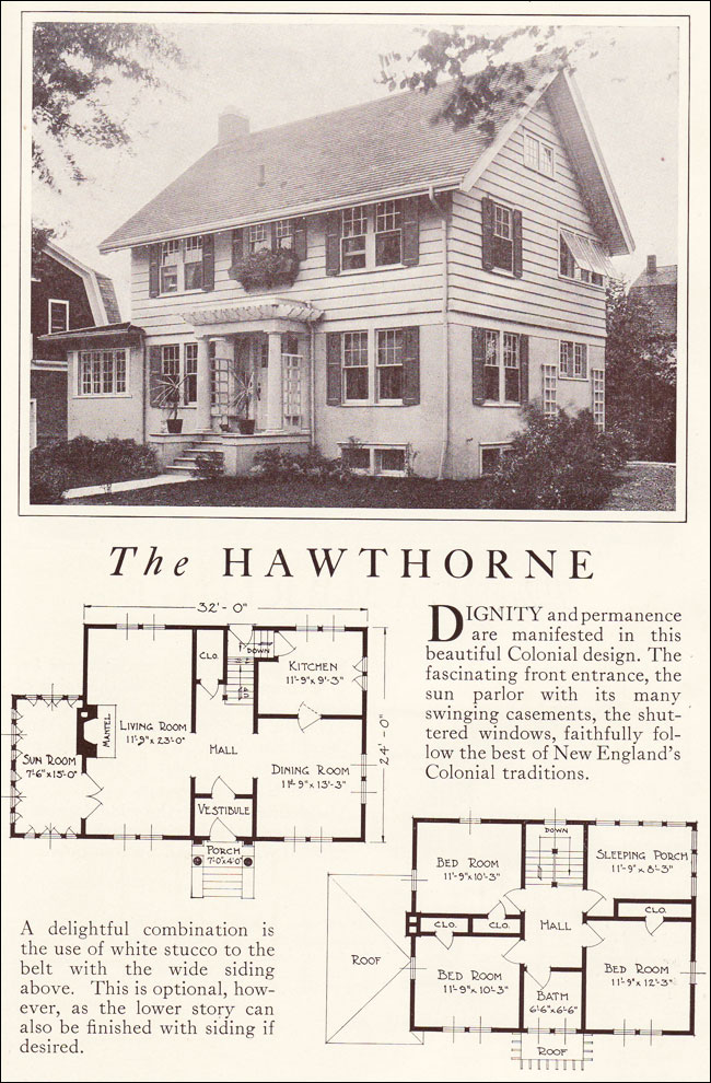 1922 Hawthorne Traditional Colonial Revival Lewis