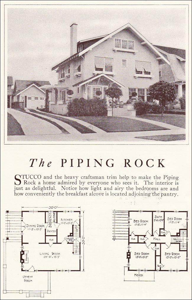 1922 piping rock two story stucco craftsman eclectic