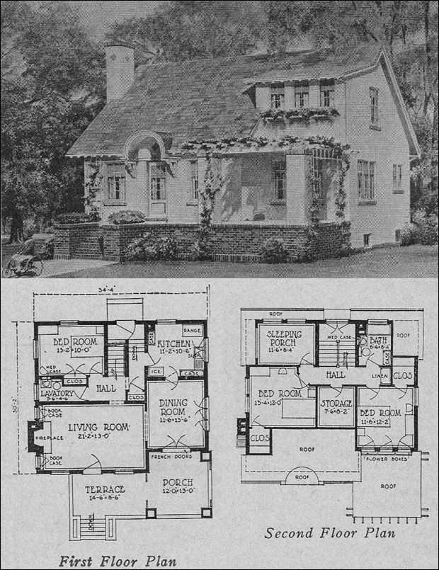 1923 olsen urban hollow tile cottage bungalow books for Urban home plans