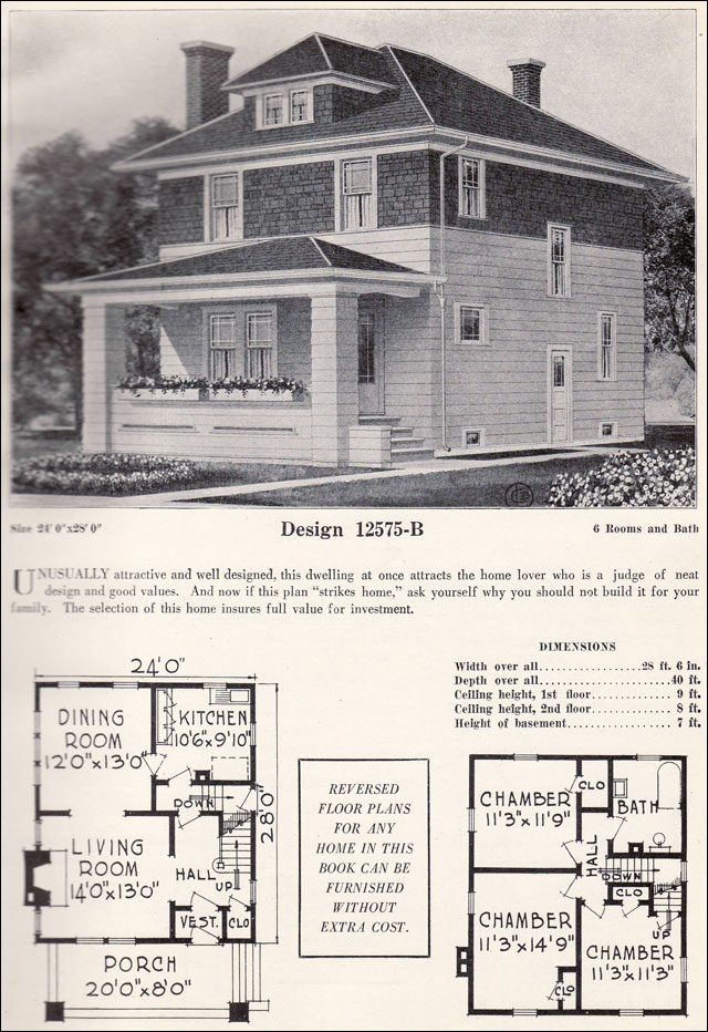 Four Squar House Design Of 1900s: Craftsman Foursquare House Plans