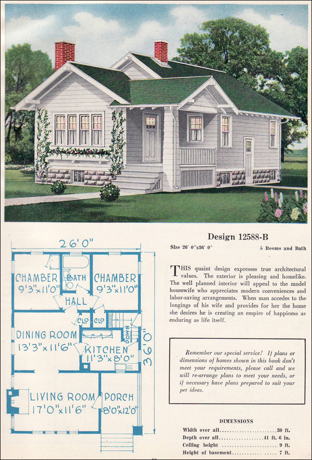 Small Bungalow Cottage Vintage American Residential