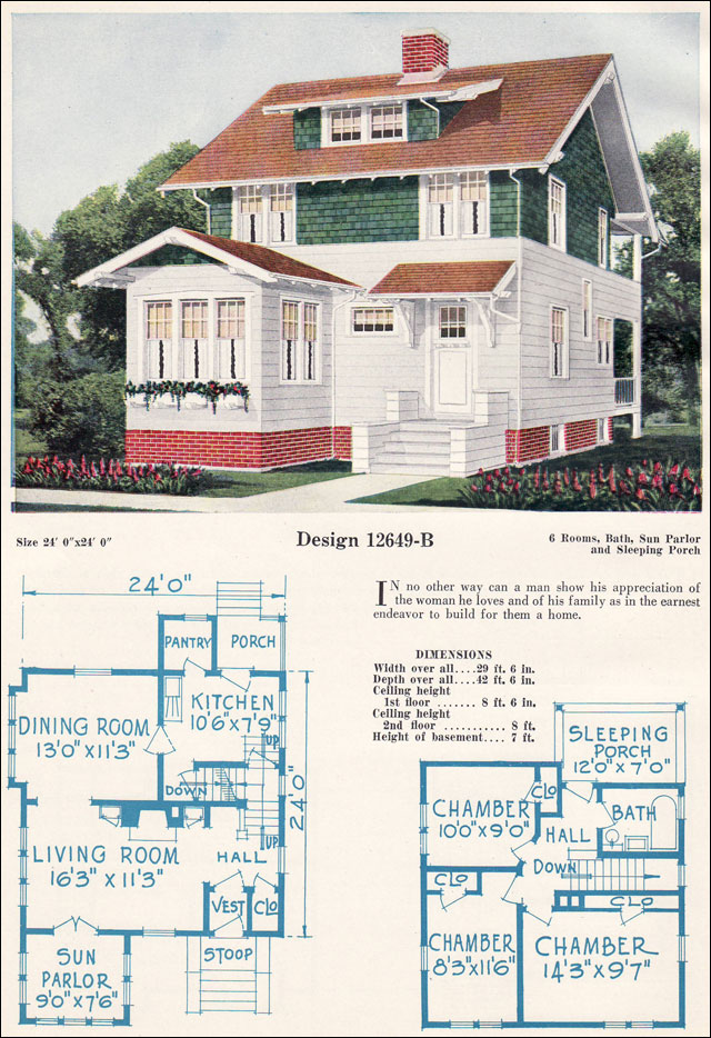Two Story Eclectic Cottage House Plans Craftsman Style
