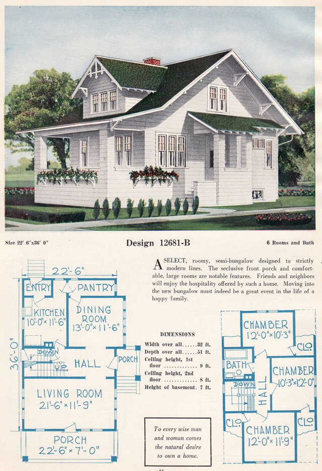 Bungalow craftsman house plans 1920s for Vintage bungalow house plans