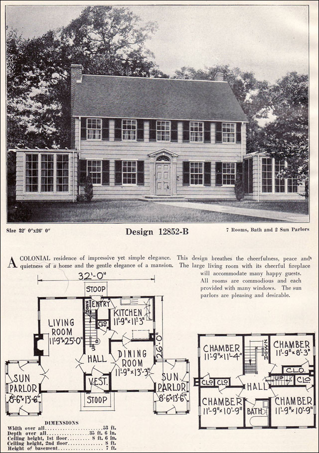 old colonial house plan