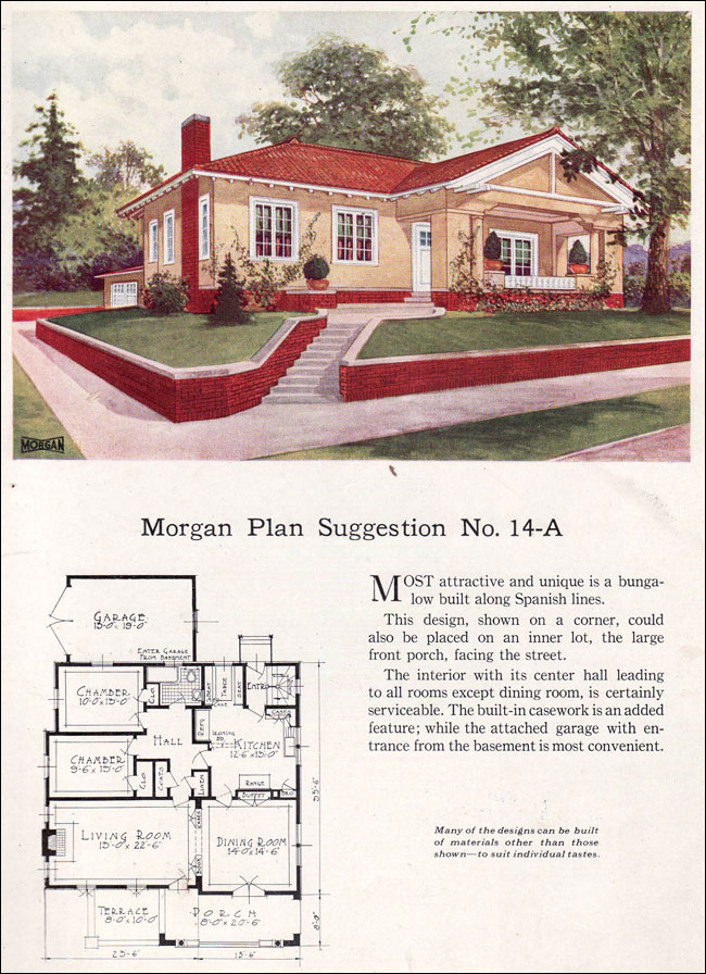 Spanish Revival Style Bungalow 1923 Morgan Sash Window
