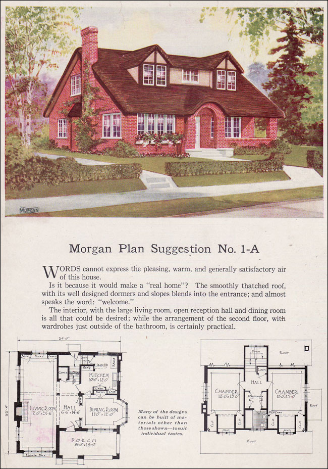 English storybook cottage bungalow 1923 morgan for Storybook craftsman house plans