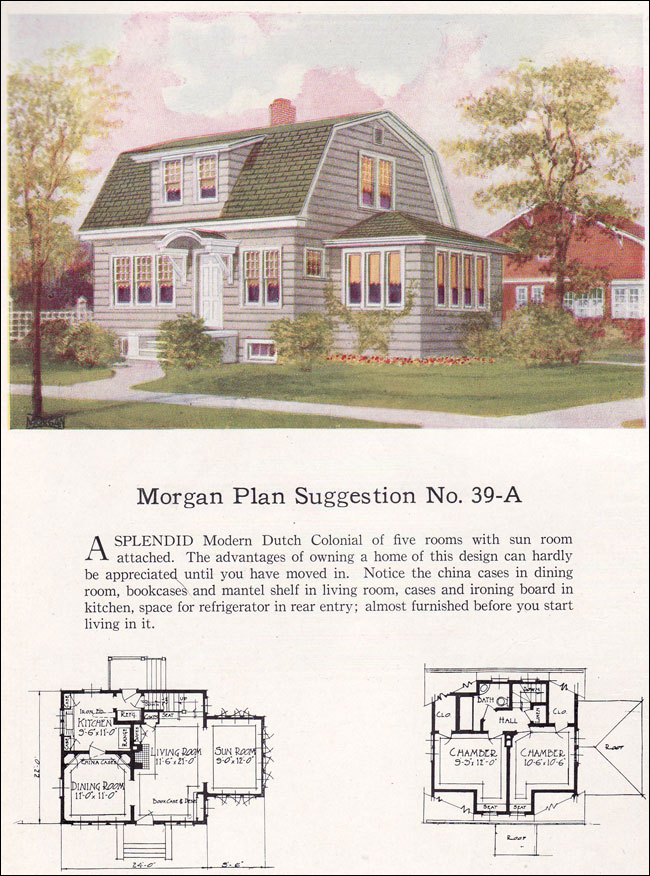 1920 s dutch colonial house plans for Dutch colonial house plans