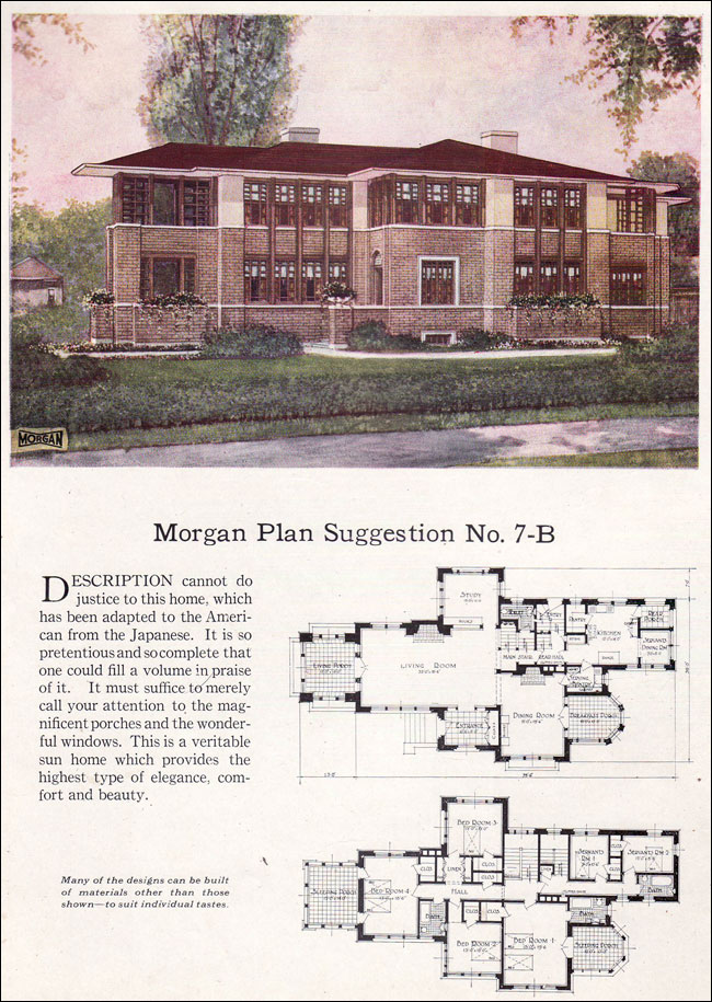 1923 morgan sash door company building with assurance for Prairie school house plans