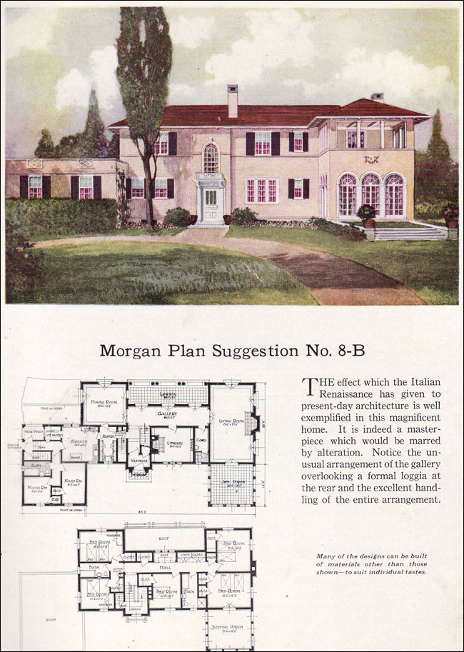 Italian renaissance home plans for Renaissance homes floor plans