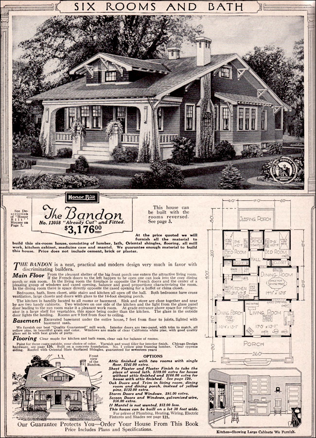 Sears Bandon Craftsman Style Bungalow 1923 Kit Houses