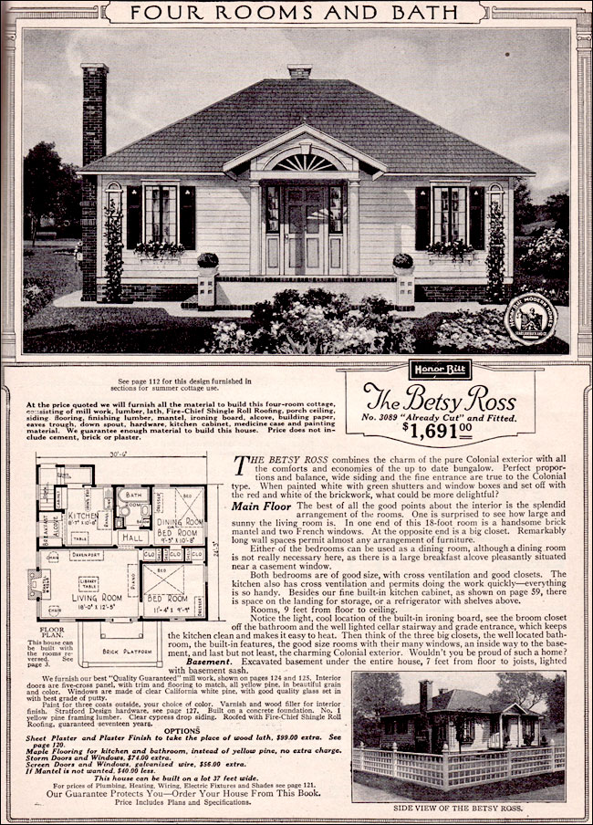 The Betsy Ross By Sears 1923 Sears Kit House Tiny
