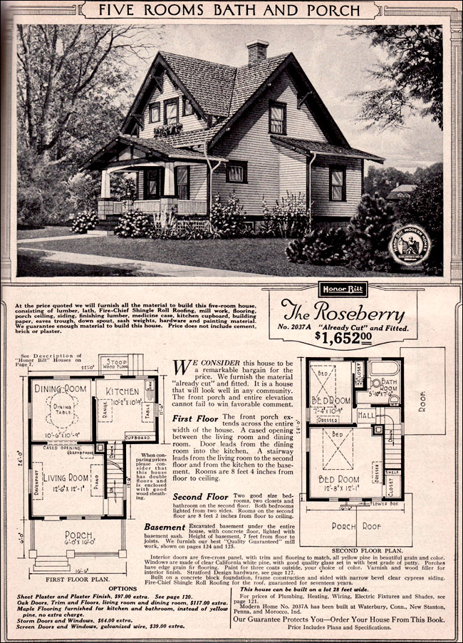 craftsman style bungalow 1923 sears kit house roseberry. Black Bedroom Furniture Sets. Home Design Ideas