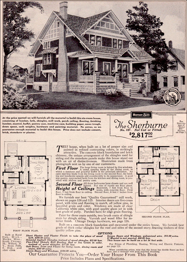 1923 Sherburne By Sears Modern Homes Kit Houses Two Story Craftsman Style Bungalow
