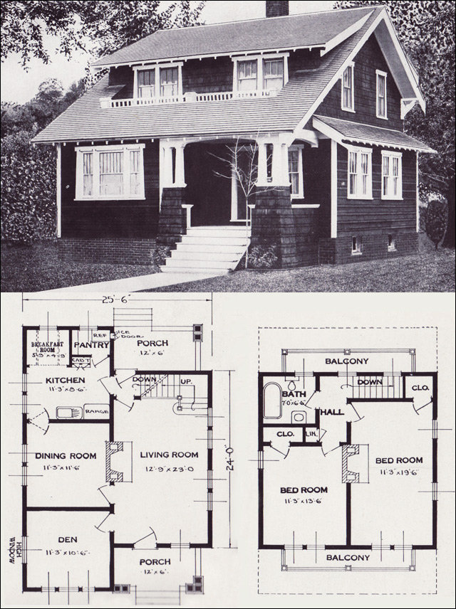 1920s Vintage Home Plans The Alta Vista Craftsman Style