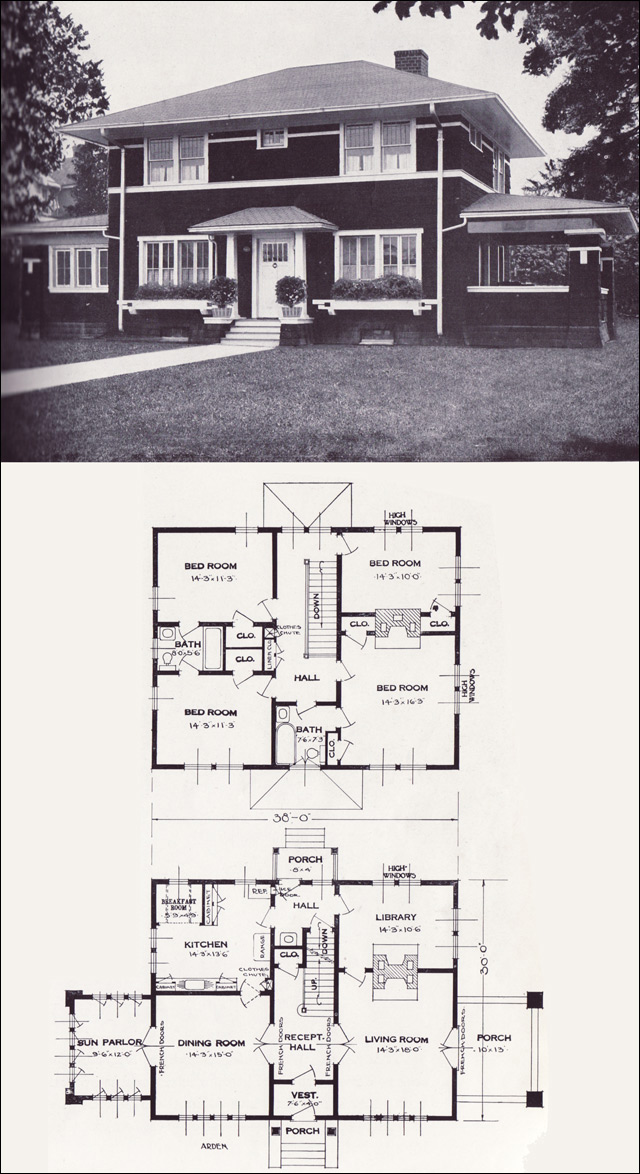 1920s vintage home plans the arden standard homes for Standard homes plans