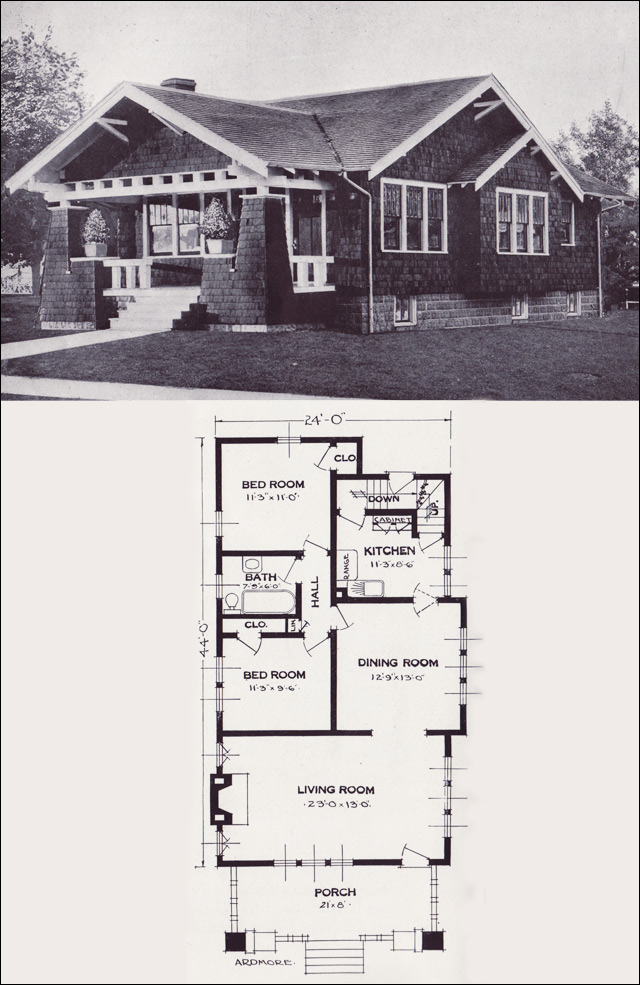 1920s vintage home plans the ardmore standard homes for Standard house plans