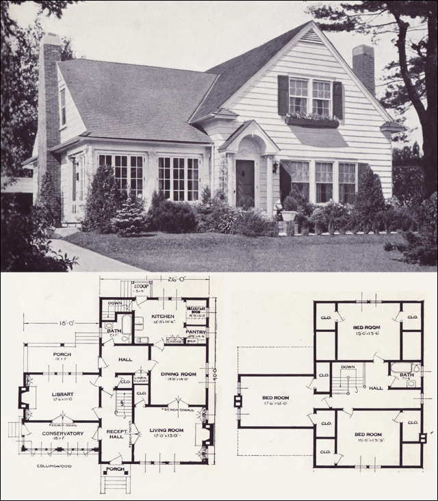 1920s vintage home plans the collingwood standard for 1920 house plans