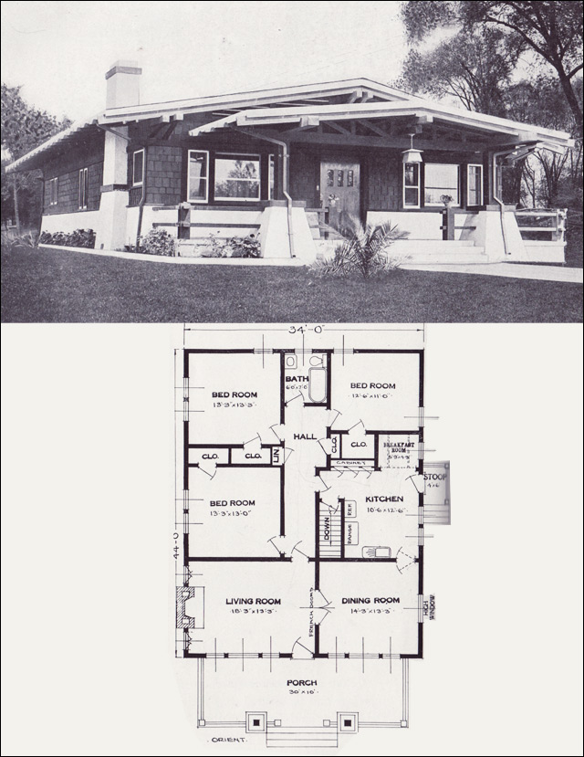 Asian influence bungalow the orient 1923 standard for Standard home plans