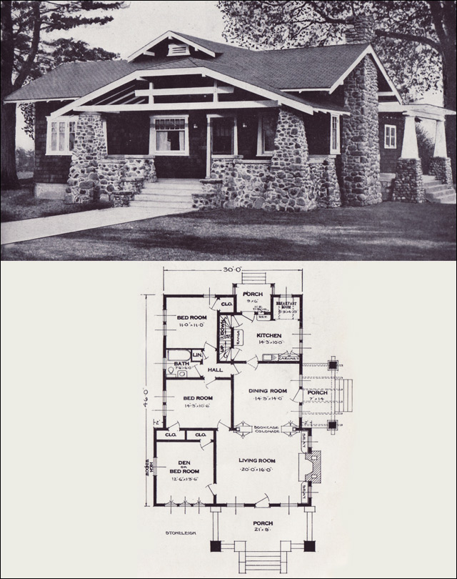 The stoneleigh 1923 standard homes company house plans for Standard home plans
