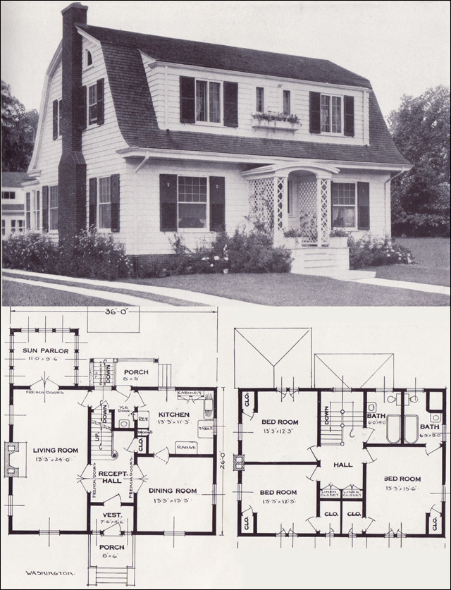 HOMES FROM THE 1920S HOUSE PLANS House Plans Home Designs