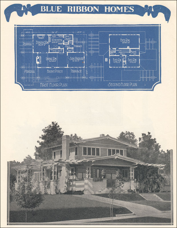 Asian Airplane Bungalow 1924 Radford 39 S Blue Ribbon Homes